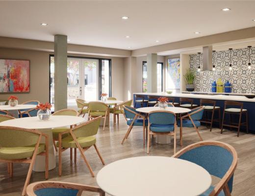 dining room seating rendering