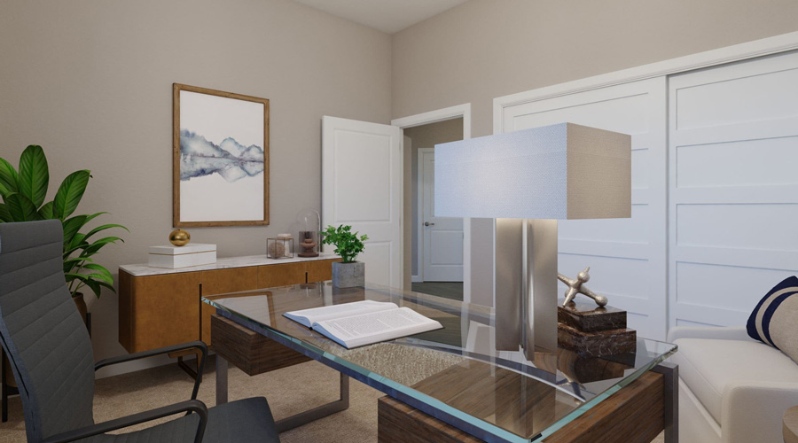 Avenida Palm Desert Apartment Two Bedroom | Bedroom 2 Rendering