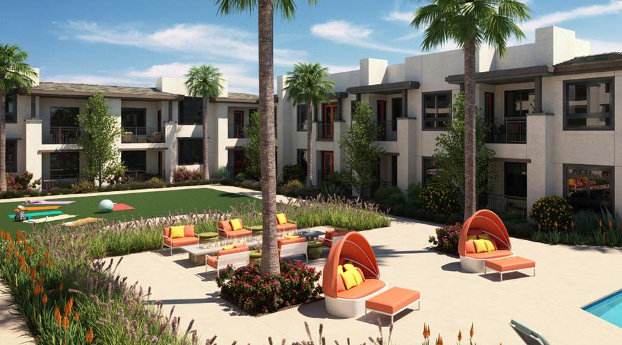 Avenida Palm Desert | Poolside Rendering