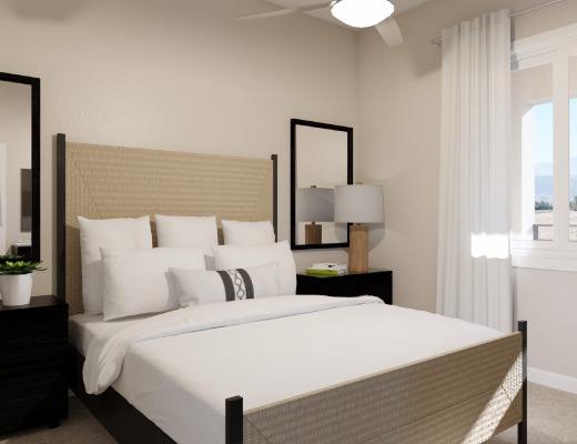 Palm Desert Apartment One Bedroom Plus Den Bedroom Rendering